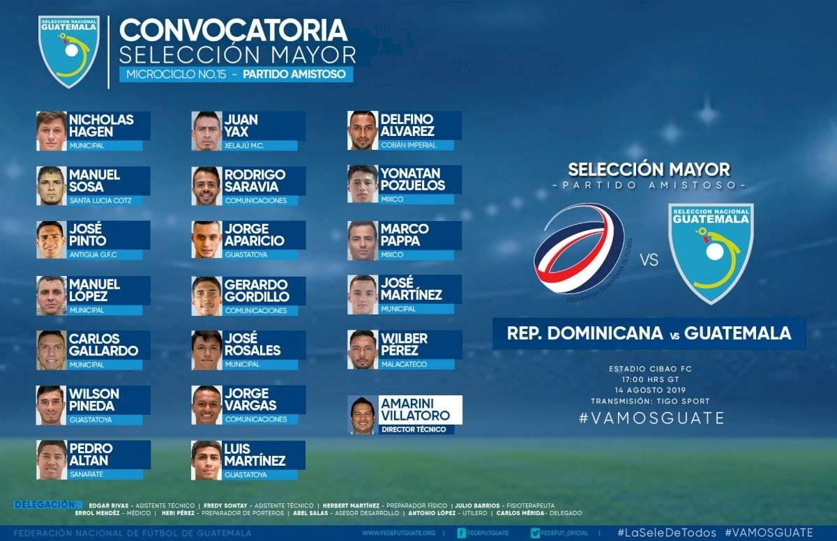 Los convocados para el amistoso ante República Dominicana