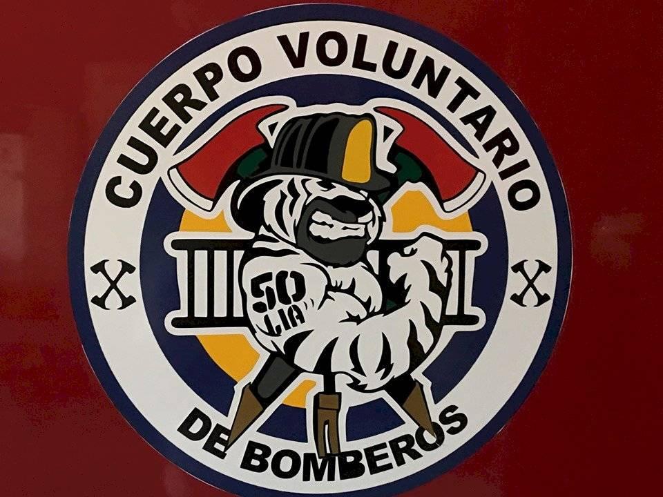 Logotipo de la 50 Compañía de los Bomberos Voluntarios. Foto: Jerson Ramos