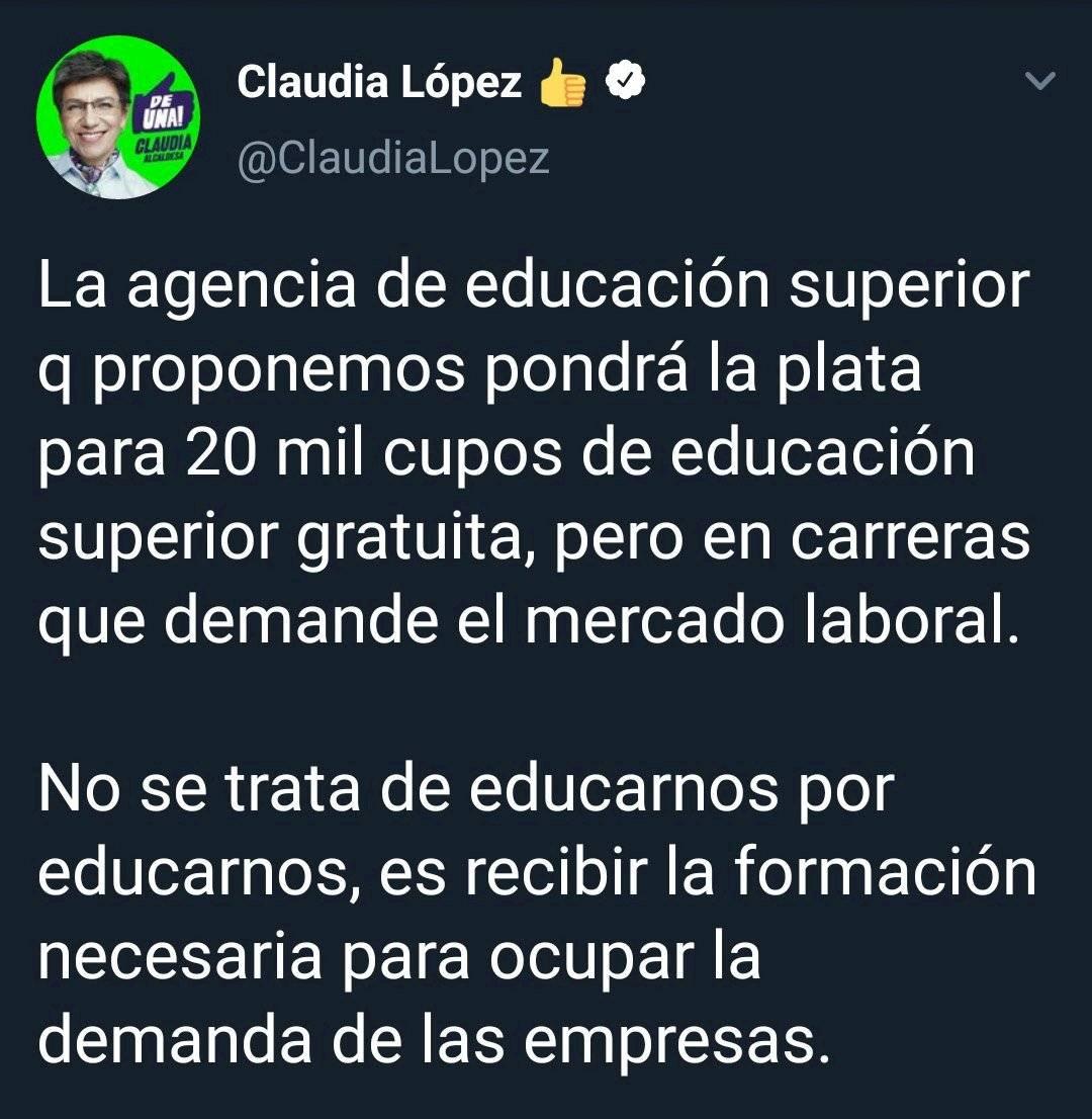 Trino de Claudia López
