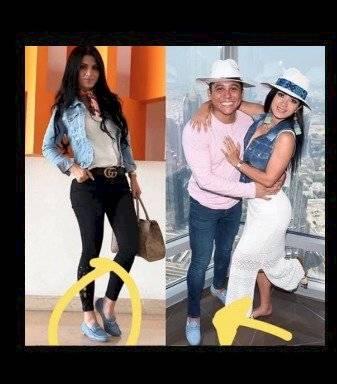 Edwin Luna y Kim Flores usan los mismo zapatos