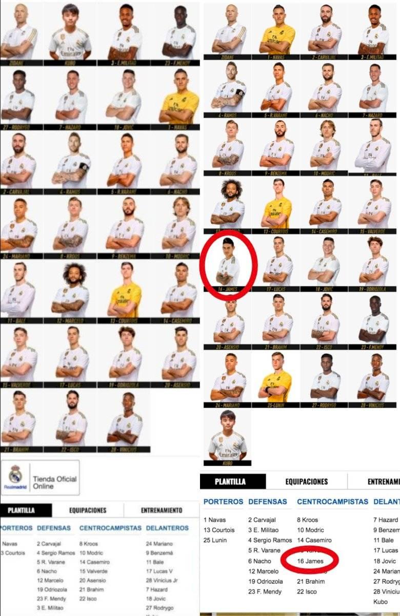 James tienda Real Madrid 2