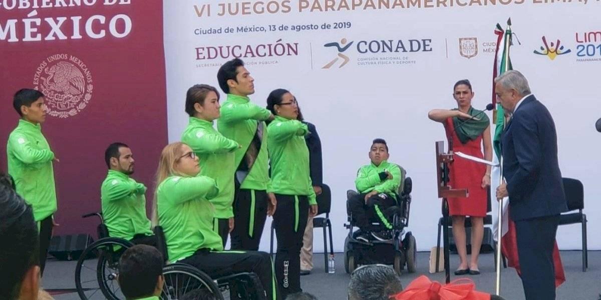 AMLO promete mismo apoyo a mexicanos que asistan a Parapanamericanos