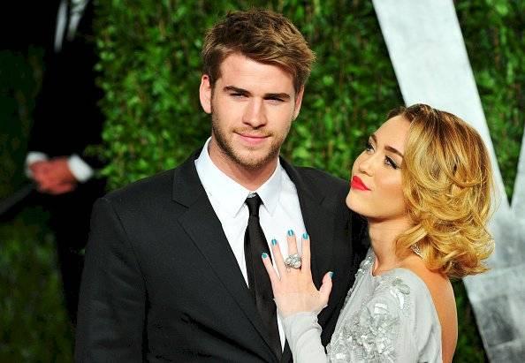 Liam Hemsworth y la cantante Miley Cyrus