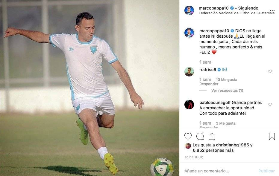 Marco Pappa mensaje enigmático previo juego Selección Nacional