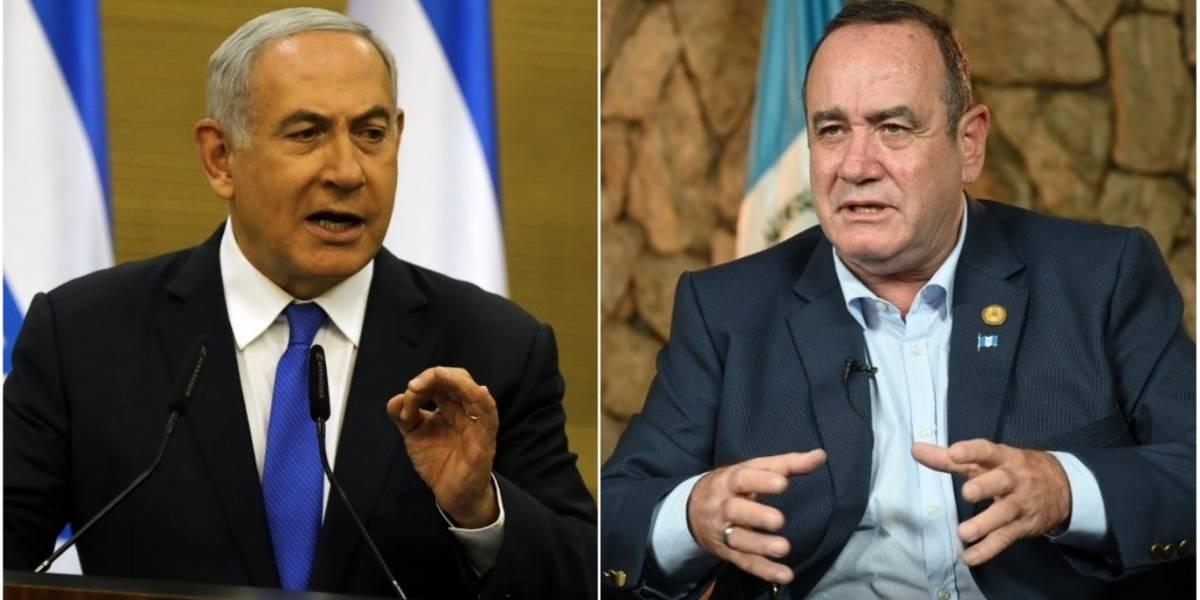 """Netanyahufelicita a Giammattei por su victoria electoral y lo llama """"amigo de Israel"""""""