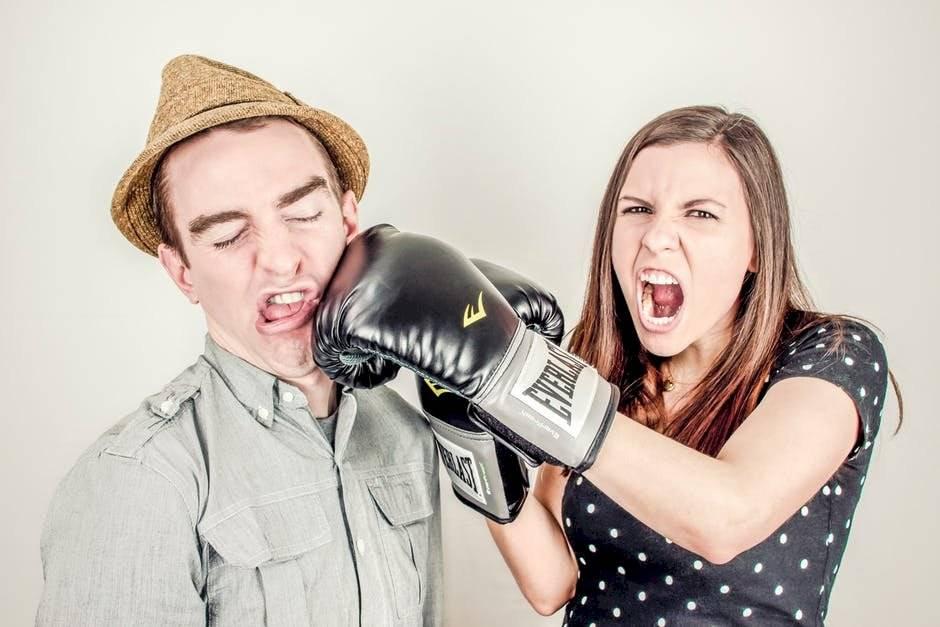 pelea auto parejas