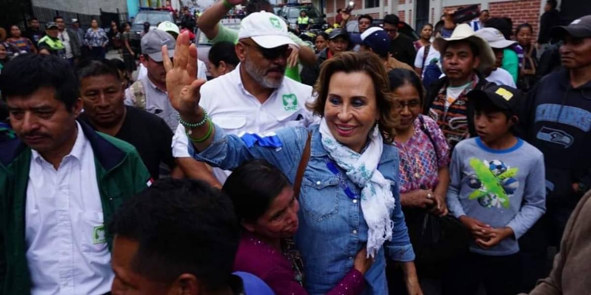 UNE se pronuncia sobre video de supuesta salida del país de Sandra Torres
