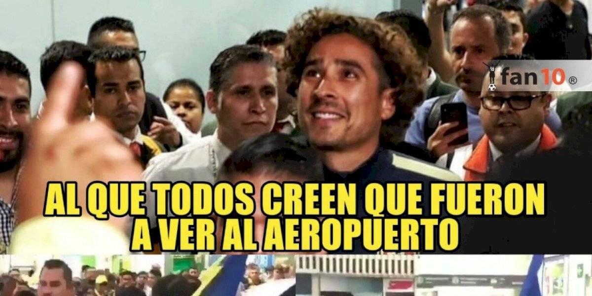 Los mejores memes de la llegada de Guillermo Ochoa a la CDMX