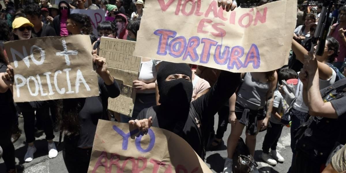 VIDEO. Así fue la marcha feministacontra policías acusados de abusos en México