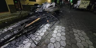 Incendio en iglesia de Santa Bárbara, en Suchitepéquez
