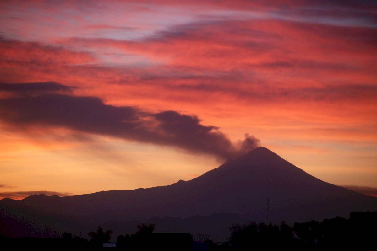 No cesa la actividad del volcán Popocatépetl. Foto: Cuartoscuro
