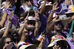 Manifestación feminista en Brasil