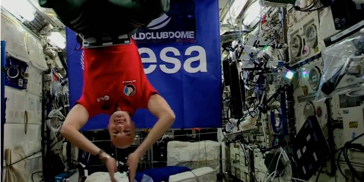 No espaço, astronauta italiano vira DJ e agita multidão; veja vídeo