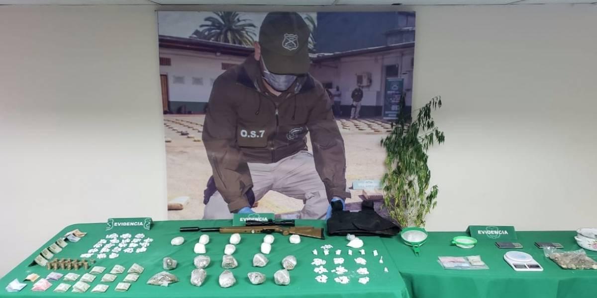 OS 7 de Carabineros neutralizó núcleo de venta de drogas en la comuna del Bosque