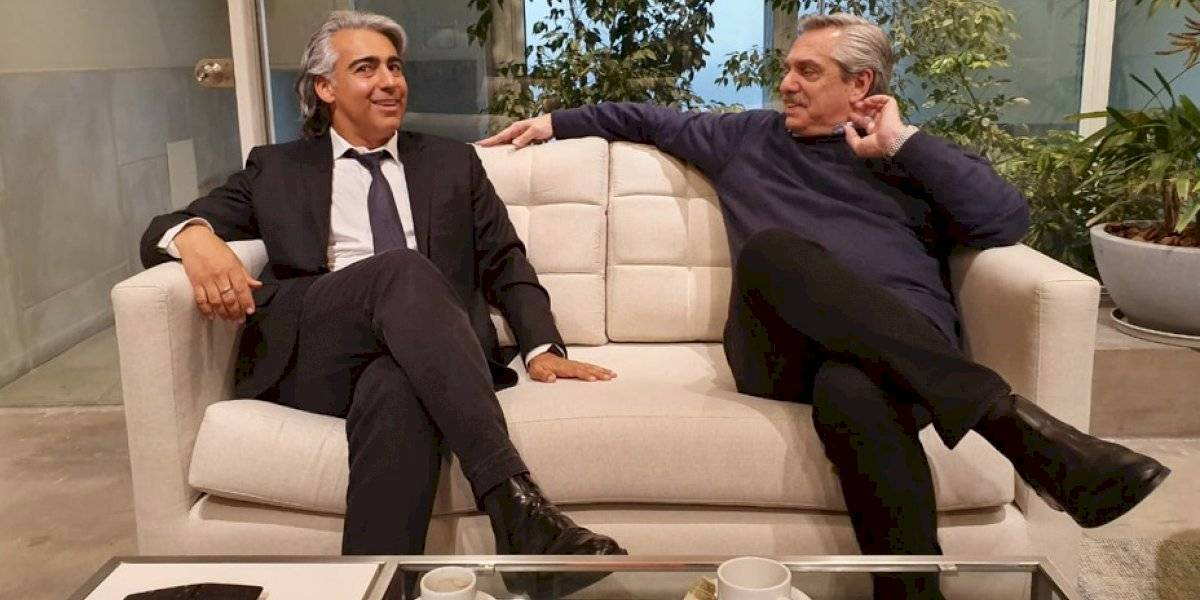 """MEO saludó a Alberto Fernández en Argentina y presentó su documental """"Al fondo de la izquierda"""""""