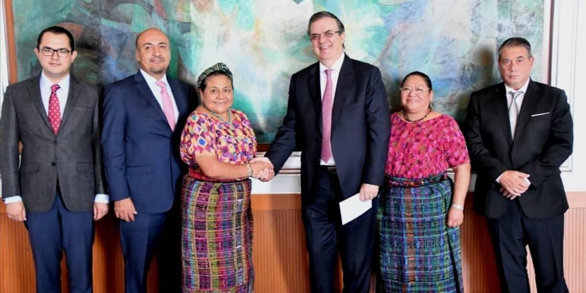 Canciller de México presenta Plan de Desarrollo Integral a Rigoberta Menchú