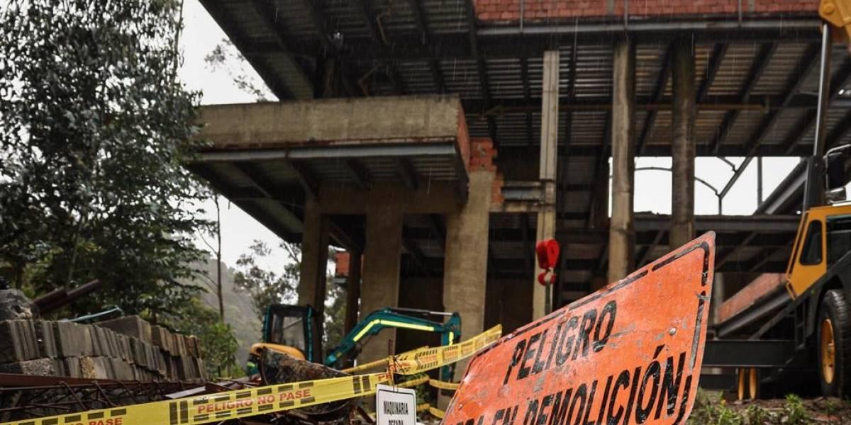 Terminan trabajos de demolición de megamansión en los Cerros Orientales