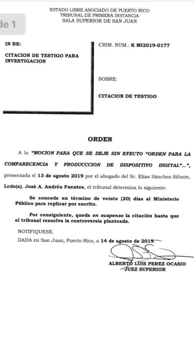 Moción de Elías Sánchez.