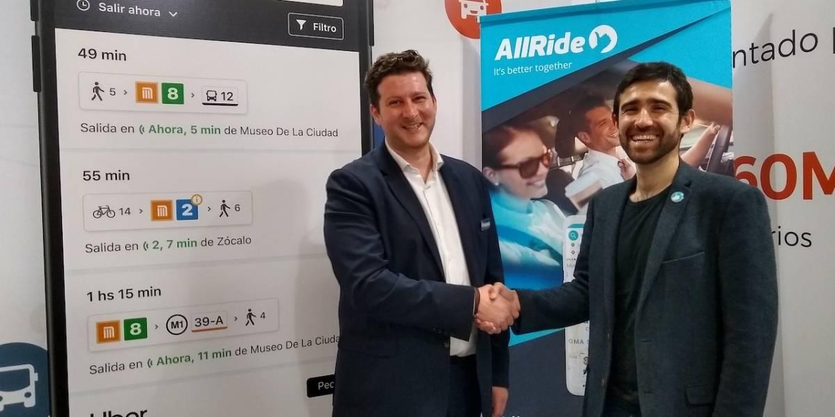 Alianza de Moovit y AllRide busca contribuir a la movilidad en México