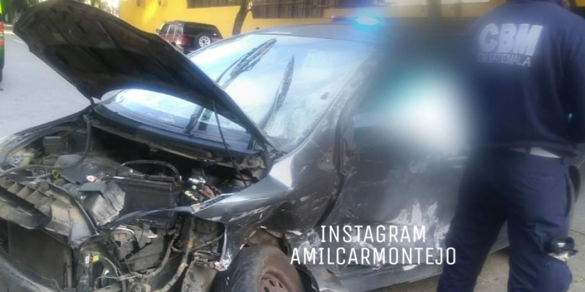 Mujer muere en accidente de tránsito en zona 10