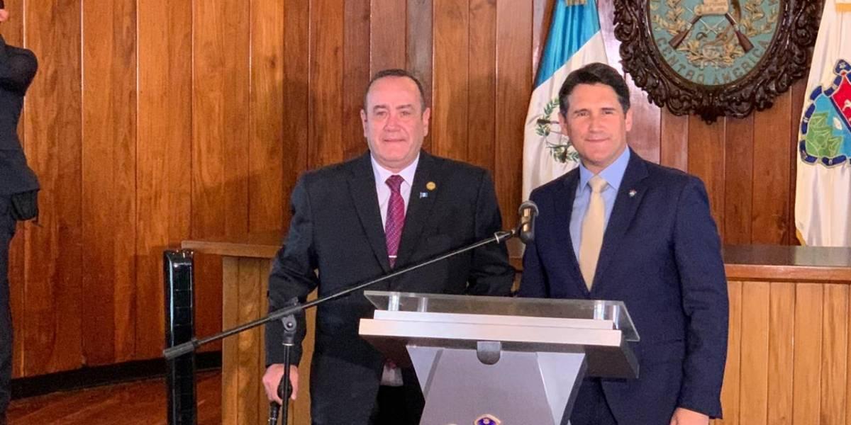 Giammattei y Quiñónez acuerdan cooperar en proyectos para beneficio de la Ciudad