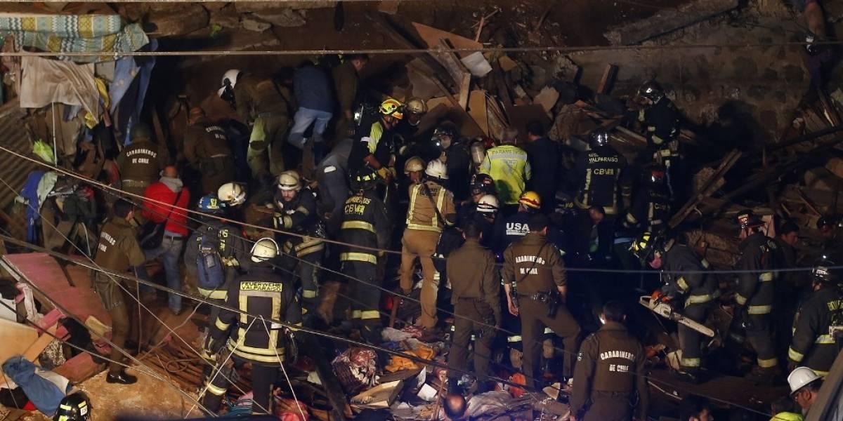 VIDEOS. Captan instantes posteriores al derrumbe que dejó 6 muertos en Chile