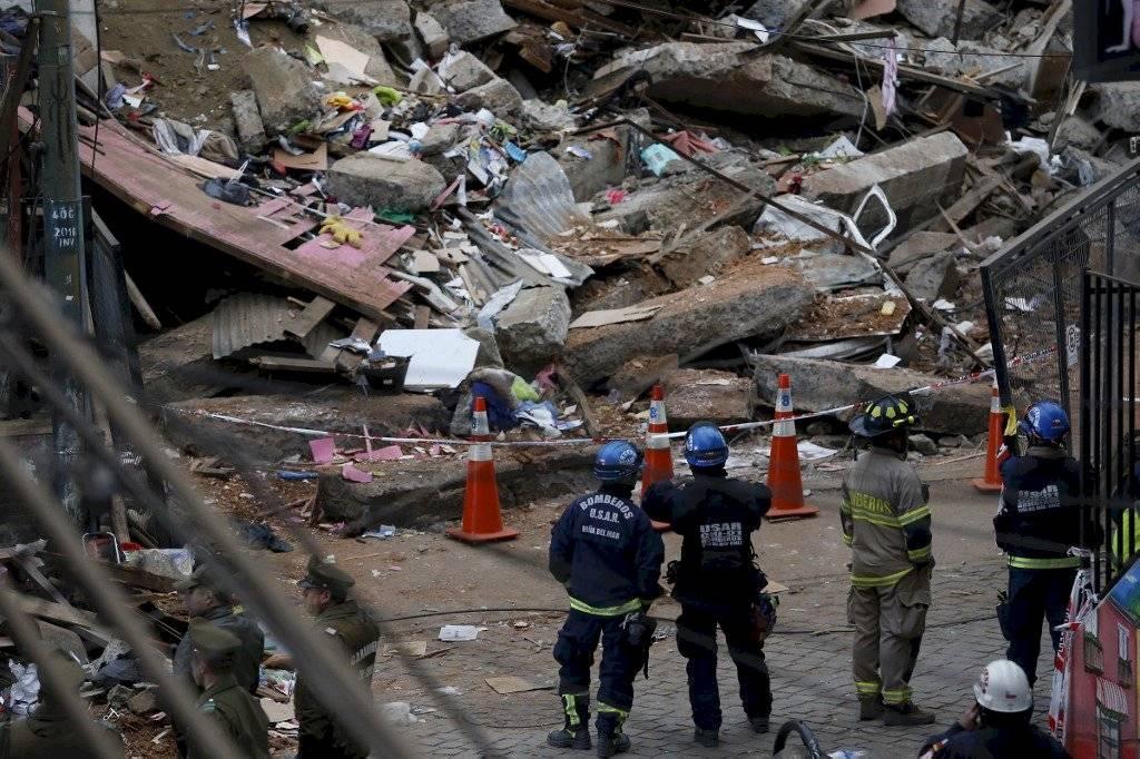 Derrumbe en Valparaíso, Chile