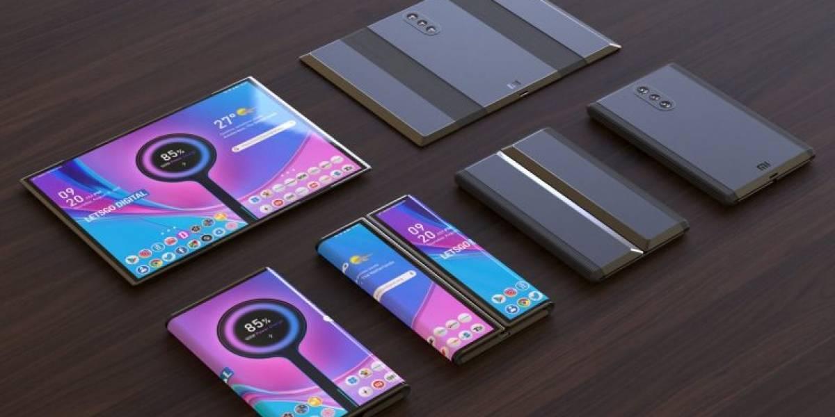 Renders muestran lo increíble que se ve el celular plegable de Xiaomi