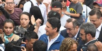 Alejandro Giammattei y Ricardo Quiñónez