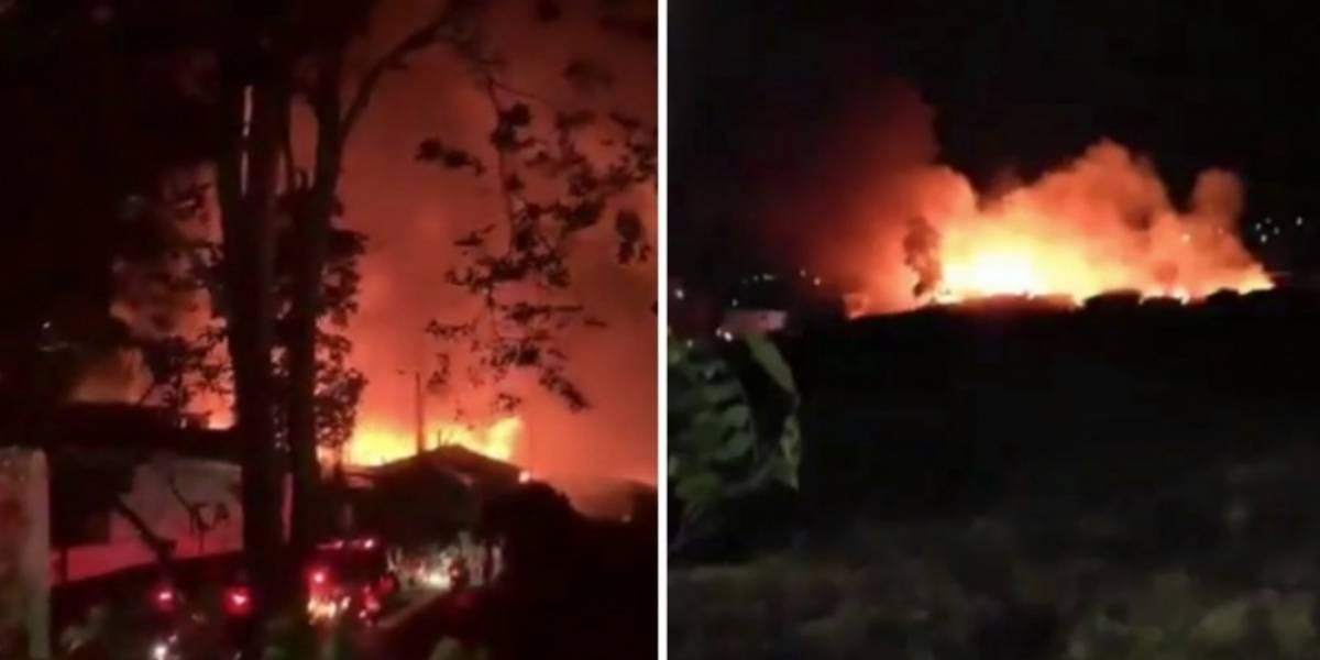 Video: Las impactantes imágenes que dejó grave incendio en Armenia