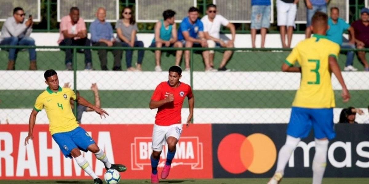 La Roja Sub 17 sucumbió ante el poderío de Brasil en amistoso