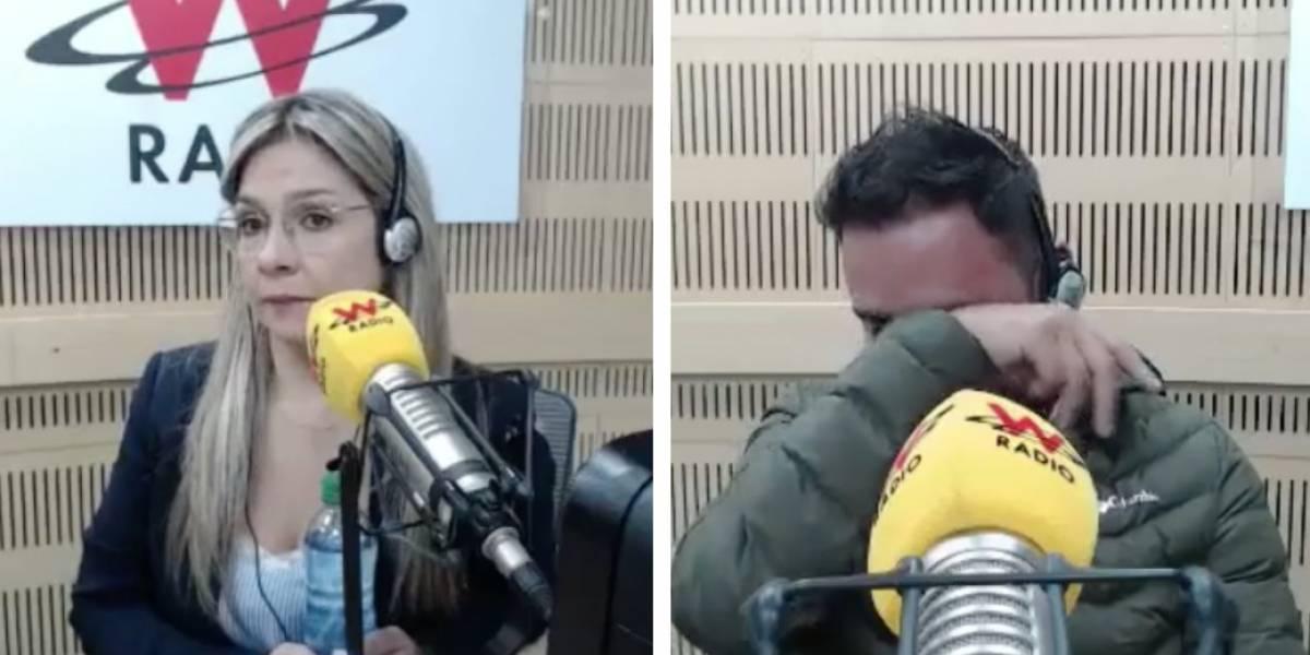 Vicky Dávila hizo llorar a imitador de Pipe Bueno y la critican por eso