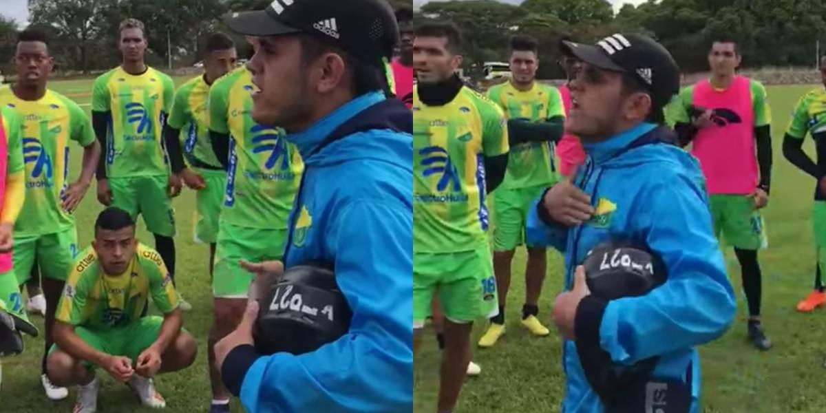 Barras bravas detuvieron entrenamiento del Huila y arremetieron contra los jugadores