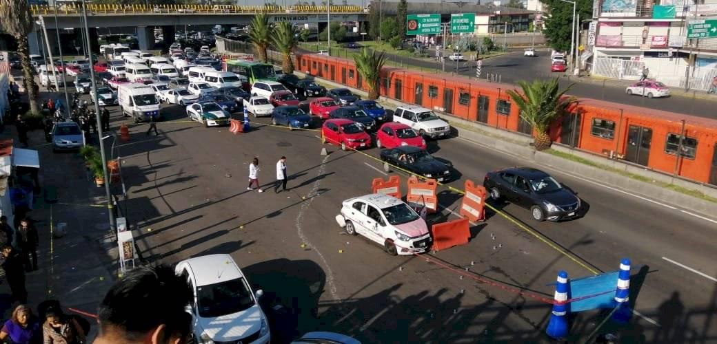 Escenas de la balacera cercana al metro Villa de Aragón Foto: Cuartoscuro