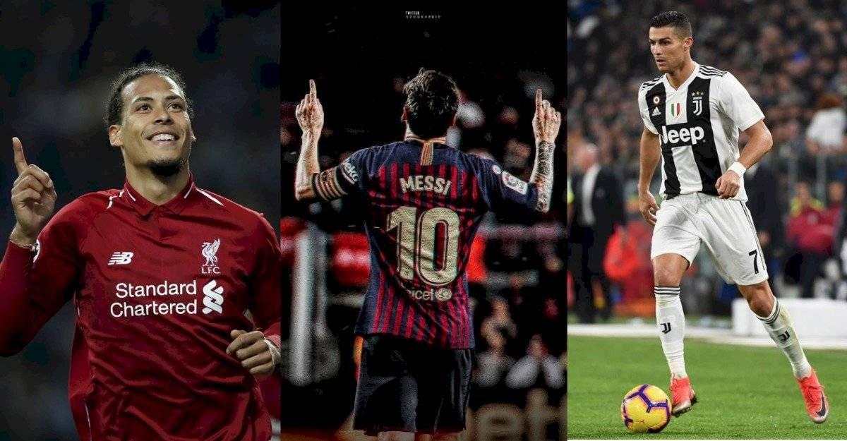 Messi, Cristiano Ronaldo y Virgil Van Dijk