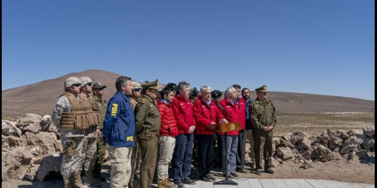 El Presidente Piñera visitó a las FF.AA. en la frontera con Bolivia