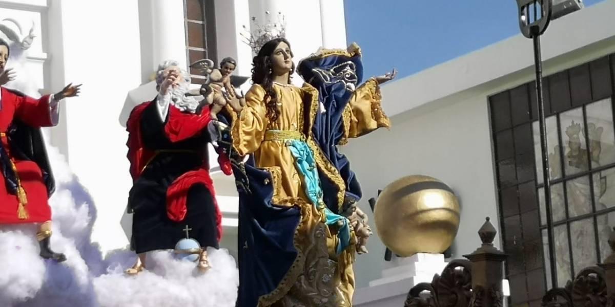 Procesión de la Virgen de la Asunción recorre Centro Histórico