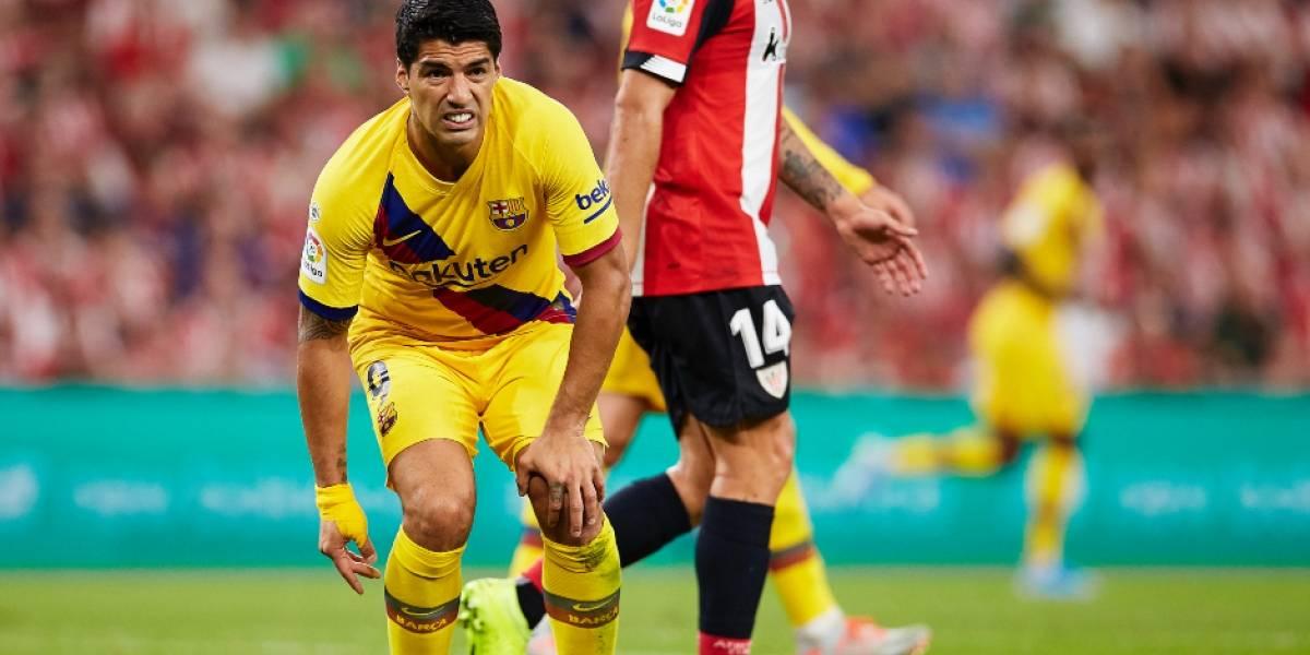 Luis Suárez añade otro problema al Barcelona de Vidal al lesionarse en el debut de la Liga