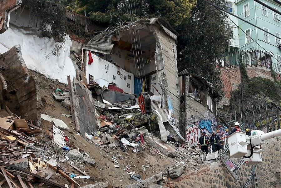 Valparaíso derrumbe
