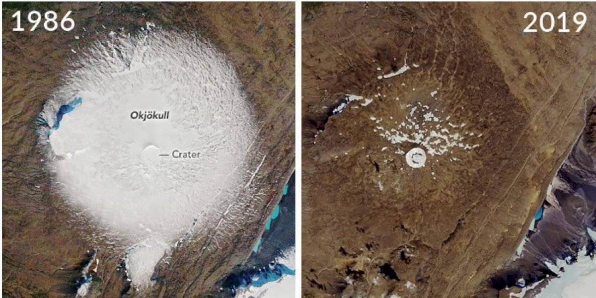 """En Islandia realizan un funeral por el """"Glaciar Ok"""" que murió debido al cambio climático"""
