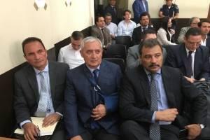 Otto Pérez Molina en audiencia del caso Red de poder, corrupción y lavado de dinero