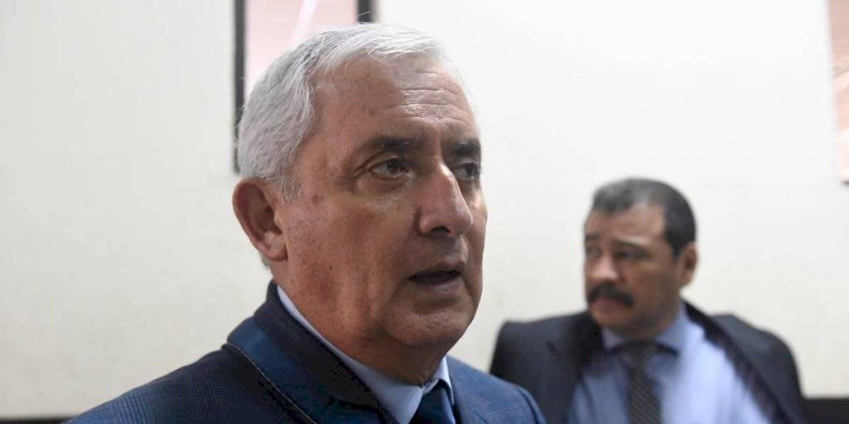 Tribunal rechaza petición de Otto Pérez para salir de prisión