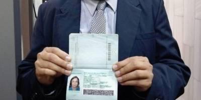 Pasaporte de Sandra Torres.
