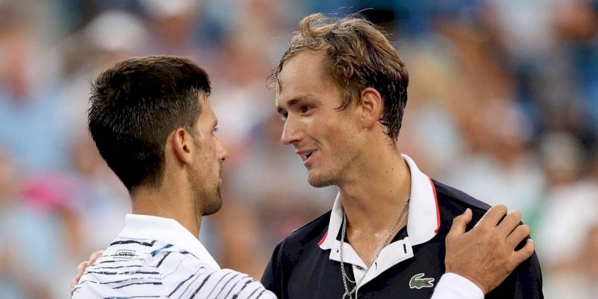 Medvedev dio la gran sorpresa en el Masters 1.000 de Cincinnati y eliminó a Djokovic en semifinales