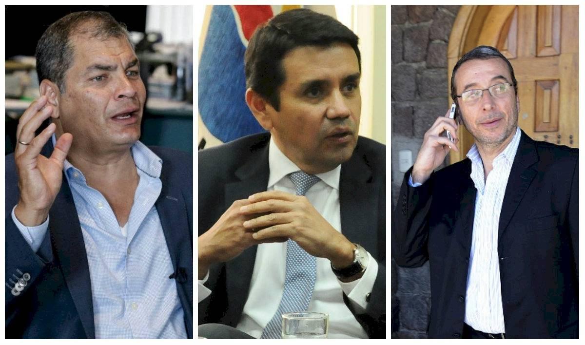 Correa, Solís y Alvarado con orden de captura Internet