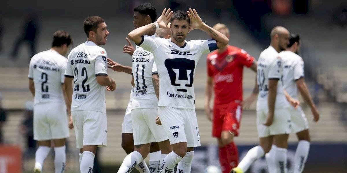 Pumas se reencuentra con el triunfo ante un Veracruz que ya suma 31 partidos sin ganar