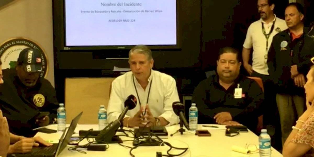 NMEAD detalla cambios a planes de búsqueda para dar con pescadores desaparecidos
