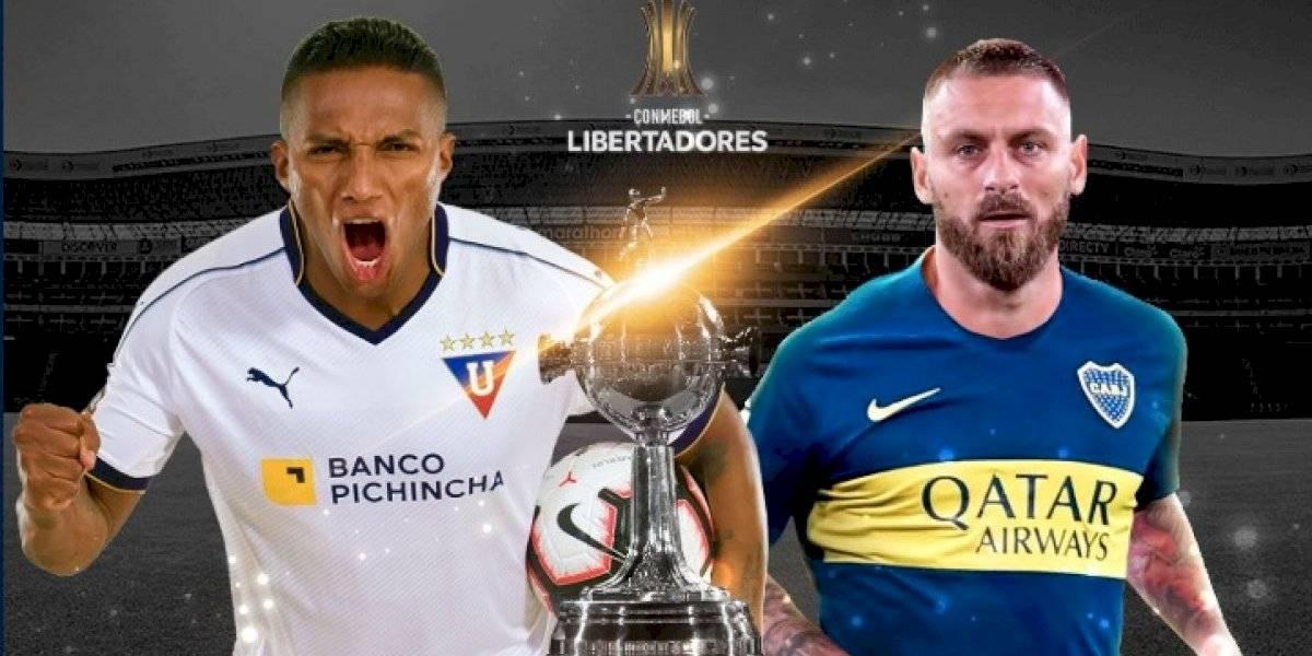 Liga de Quito cayó contra Boca Juniors en el estadio Rodrigo Paz Delgado