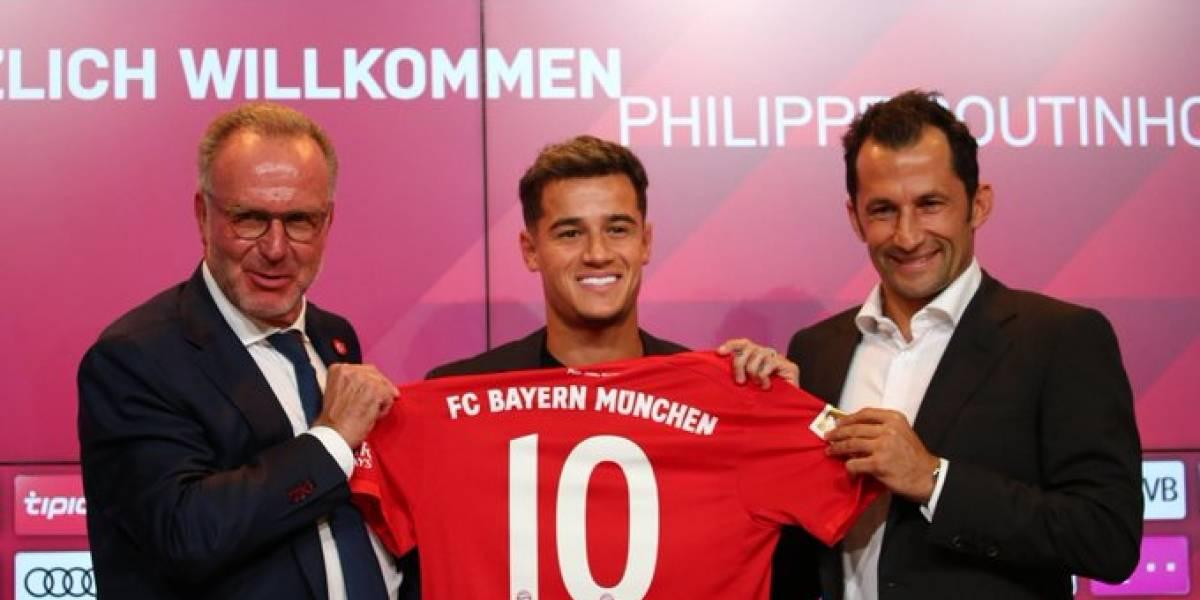 """Coutinho lanza un """"palito"""" en su llegada al Bayern: """"Barcelona ya es pasado, quiero estar varios años acá"""""""