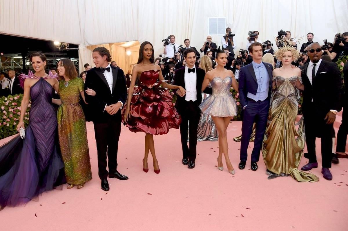 Katie Holmes y Jamie Foxx en la Gala del Met